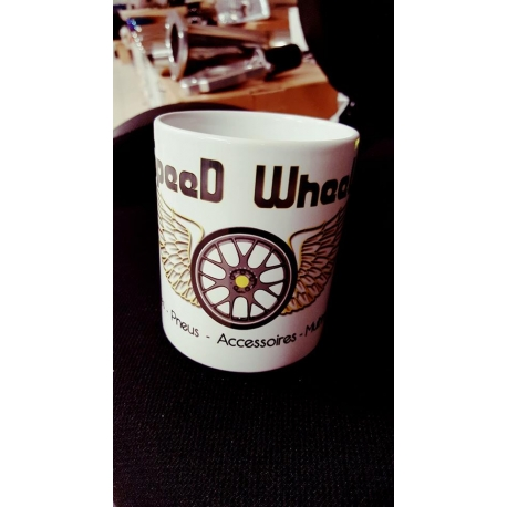 MUG BLANC SPEED WHEEL