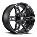 JANTE FUEL 4X4 US DAKAR - D622 Gloss Black & Milled 9X20