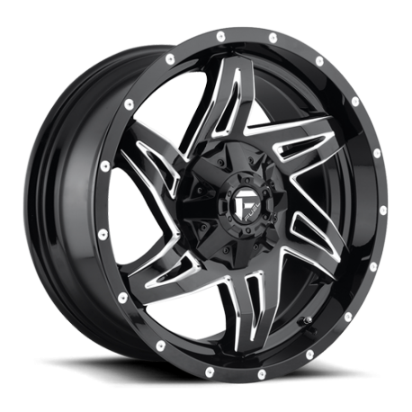 JANTE FUEL 4X4 US ROCKER - D613 Gloss Black & Milled 9X20
