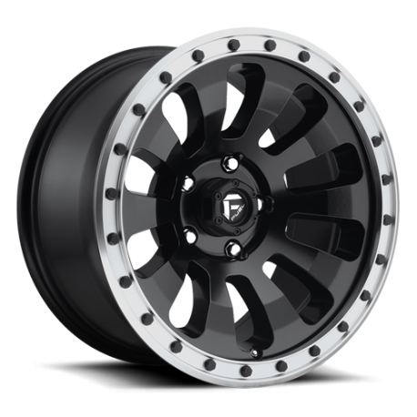 JANTE FUEL 4X4 US TACTIC - D629 Black w/ Machined Lip 17/18/20""