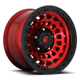 JANTE FUEL ZEPHYR - D632 FINISH 17x9 Candy Red w/ Matte Black Ring