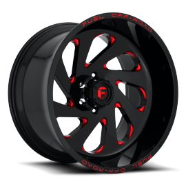 """JANTE FUEL VORTEX - D638 Gloss Black w/ Candy Red 20/22"""""""