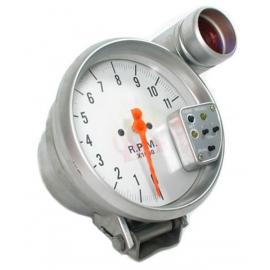 Performance tachymètre Shift Lumière (Cadran blanc / argent bord mat) 5P