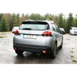 Silencieux arrière inox FOX pour Peugeot 2008