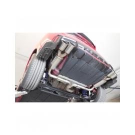 Silencieux arrière FOX duplex D/G inox pour Honda Civic IX Type R