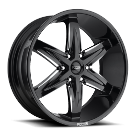 JANTE FOOSE SLIDER-F162 Gloss Black & Milled 22 x 9.5