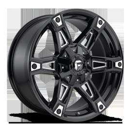 JANTE FUEL 4X4 US DAKAR - D622 Gloss Black & Milled 9X20