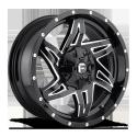 JANTE FUEL 4X4 US ROCKER - D613 Gloss Black & Milled 9X20
