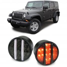 CLIGNOTANT LED CLIGNOTANT AVANT NOIR FUMÉE POUR Jeep Wrangler JK de 07