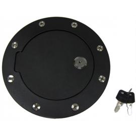Bouchon de réservoir en acier inoxydable noir pour pick-up Chevrolet Silverado 99-09
