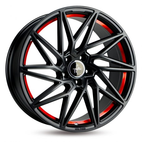 JANTE KESKIN KT20 BLACK PAINTED RED INSIDE 8,5X20 5X112 ET 45 72,6
