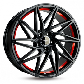 JANTE KESKIN KT20 BLACK PAINTED RED INSIDE 8,5X20 5X112 ET 30 72,6