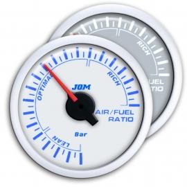 Manomètre, aire/essence, blanc, échelle à LED bleu, Ø52mm
