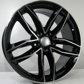 JANTE CAR1 TYPE AUDI BLACK FACE POLIE 9,5X22 5X112 ET 35 66,6