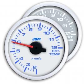 Manomètre, Dynamic, température des gaz d'échappement, technique pas-à-pas, éclairage à LED