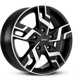 JANTE RONAL R64 BLACK FACE POLI 7X17 5X130 ET 60 78,1 FIAT DUCATO MAXI