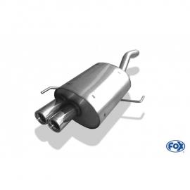 ECHAPPEMENT INOX FOX ALFA ROMEO 147 1,6 16v 105CV 2x70 Typ 13
