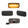 Clignotants latéraux, Audi A2 01-05, A3 96-03, A4 95-00, A6 97-05, A8 96-02, TT 98-06 barre de lumière, clair/ noire