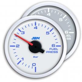 Manomètre, pression de carburant, blanc, LED bleu, Ø52mm