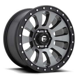JANTE FUEL US 4X4 TACTIC D648 Anthracite w/ Black Lip 17/18/20""
