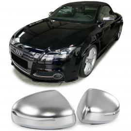Couvercles à miroir argent mat à remplacer pour Audi TT 8J 06-14