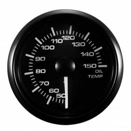 jauge de température d'huile Manomètre Compteur avec sonde 50°~150°, Ø52mm LED réglable Blanche / Jaune vitre bombé