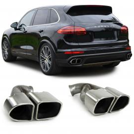 Tube double des tubes finaux Turbo l'optique l'acier spécial pour Porsche Cayenne 92 A Facelift