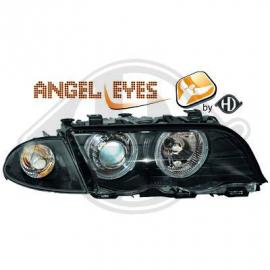 ANGEL EYES H7 / H7 BLACK BMW E46 PHASE 1 98/2001 BERLINE
