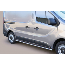 TUBES MARCHE PIEDS OVALE INOX Ø 76 RENAULT TRAFIC L1 2014+ RENAULT TRAFIC