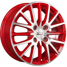 JANTE CMS C17 Red / Polished 6,0X15 4/100 ET40 67,1