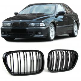 CALANDRE Double barre noire brillante pour BMW 5er E39 95-03