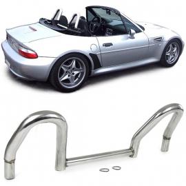 Arceaux de sécurité Arceaux de route Acier inoxydable poli pour BMW Z3 E36 Roadster 95-03