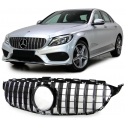 CALANDRE MERCEDES W205 BLACK CHROME 12/2013 ET + LOOK GTR
