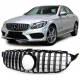 CALANDRE MERCEDES W205 BLACK CHROME 12/2013 ET +