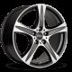 """JANTE RONAL R55 SUV NOIR MAT FACE POLIE 17/18/19/20"""""""