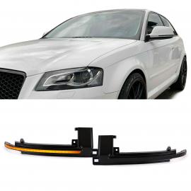 Noir dynamique clignotant à LED pour Audi A3 8P A4 B8 A5 B8 A6 C6 A8 D3 Q3