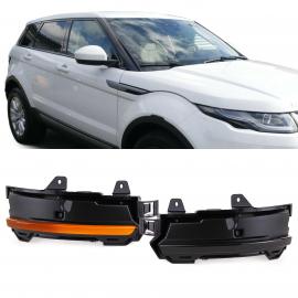 Noir dynamique clignotant à LED pour Land Range Rover Discovery Evoque