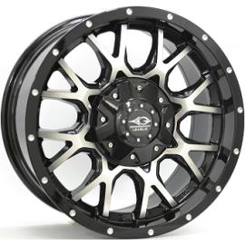 JANTE LEAGUE M691 Gloss Black / Polished9,0X18 6/139,7 ET25 110,1