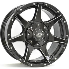 JANTE LEAGUE M692 Gloss Black / Polished 9,0X18 6/139,7 ET25 110,1