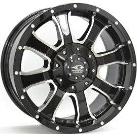 JANTE LEAGUE M693 Gloss Black / Polished 9,0X18 6/139,7 ET25 110,1