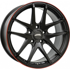 JANTE IA RED HOT Dull Black / Red 7,0X16 5X100 ET38 57,1