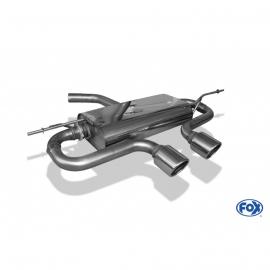 VW Golf V silencieux arrière sortie centre design R32 - 2x90 FOX
