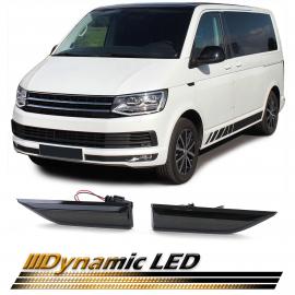 Clignotants latéraux à LED dynamiques fumée noire pour VW T6 Transporter Bus à partir de 15