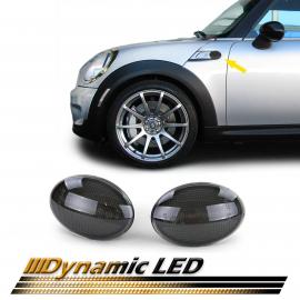 Clignotants latéraux LED dynamiques noir pour Mini R55 R56 R57 06-14 R58 R59 11-14