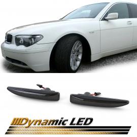 Clignotants latéraux LED dynamiques noir pour BMW Série 7 E65 E66 E67 01-09