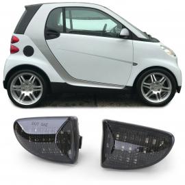 Clignotants latéraux à LED noir pour Smart Fortwo Cabrio Coupe 451 de 07
