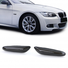 Clignotants latéraux à LED noir pour BMW Série 1 E82 E88 3 Série E90 E91 E92 5 Série E60