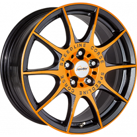 JANTE  SPEEDLINE SL2 MCR Dull Black / Orange  8X18 5X112 ET 45 76