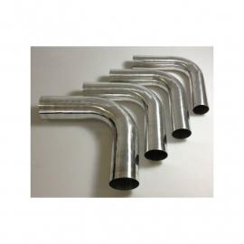 Coude 90° en aluminium REDOX diamètre extérieur 60 longueur 140x140