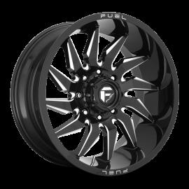 JANTE  FUEL 4X4 SABER D744 Gloss Black & Milled 20x9 / 20x10 / 22x10